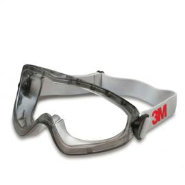 3M 2890SA Ventilsiz Asetat Lens Tam Kapalı Gözlük