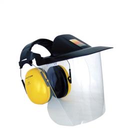 3M V40F Polikarbonat Vizör - Kulaklık Kombinasyonu