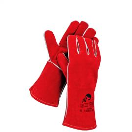 Cerva Pugnax Kaynakçı Eldiveni (Kırmızı)